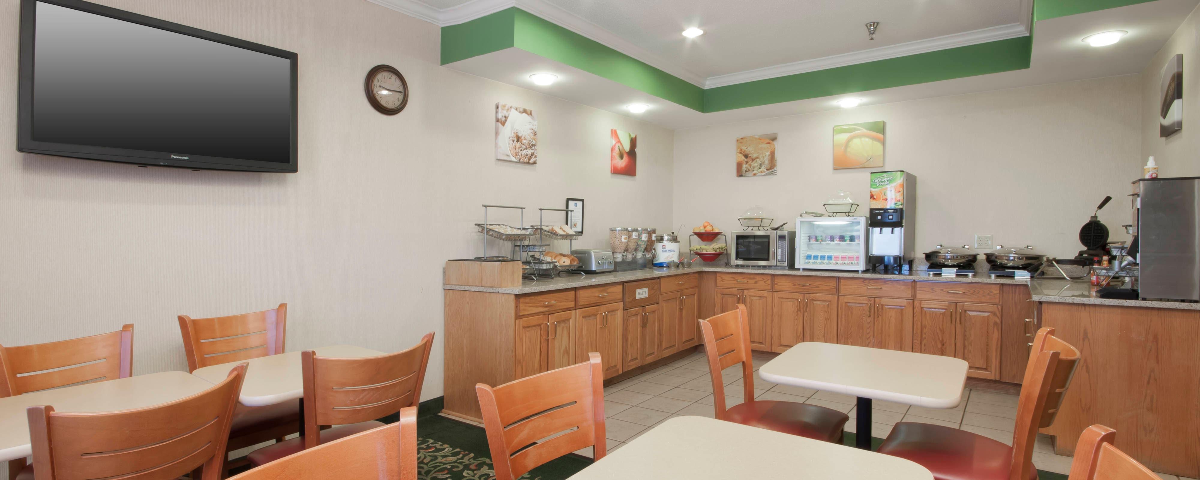 Kostenloses Frühstück in Hotel in Sioux City
