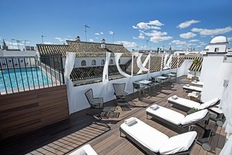 Rooftop Pool and Sun Loungers