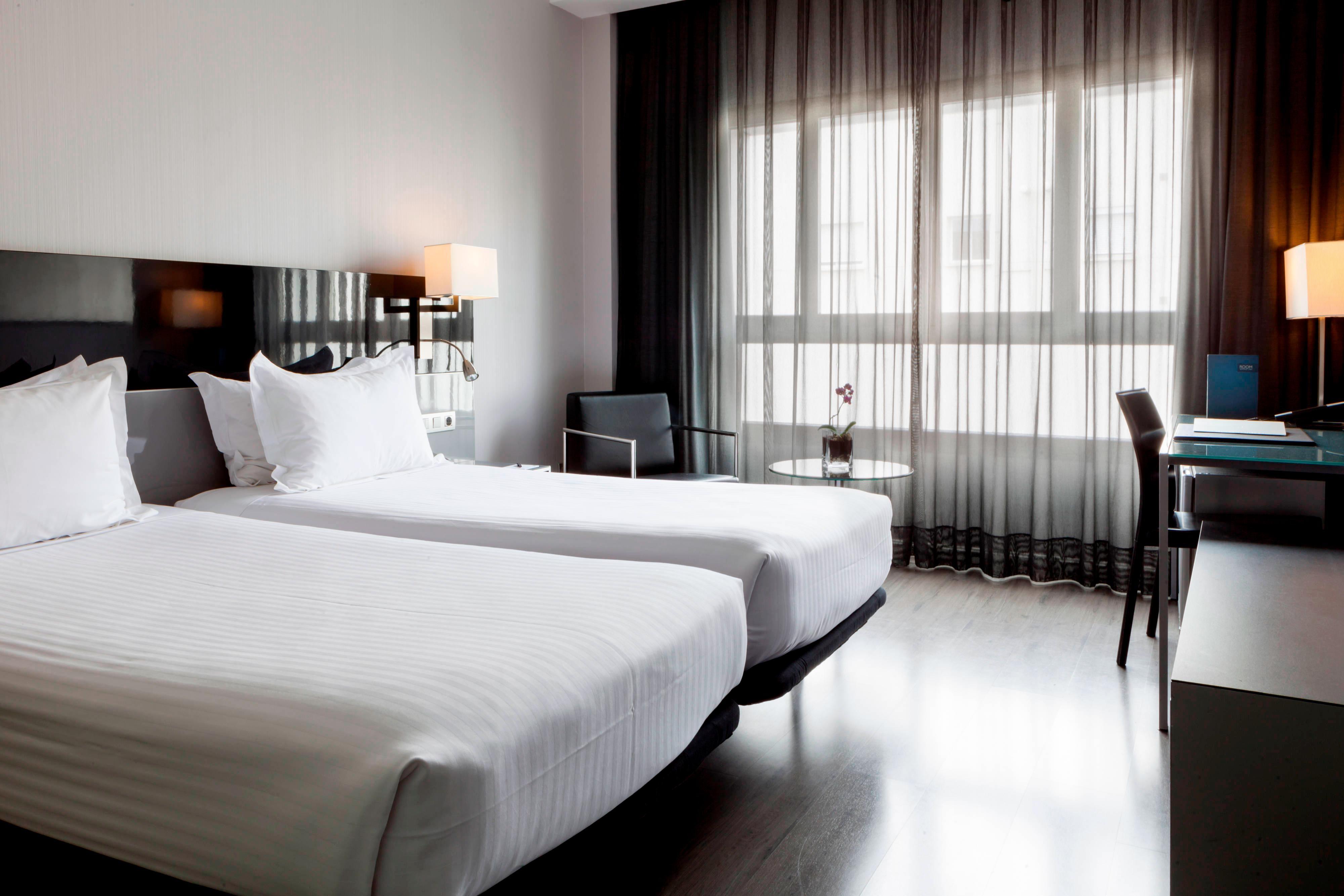 Gästezimmer mit zwei Twinsize-Betten