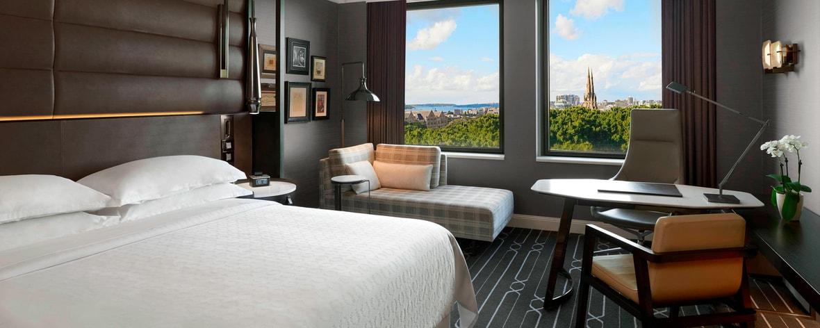 Вид на Гайд-парк из номера с двуспальной кроватью (King)
