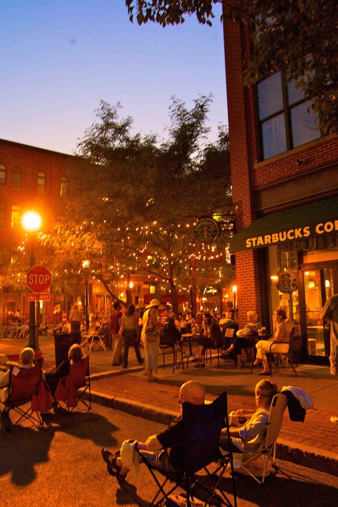 Free concerts in Armory Square