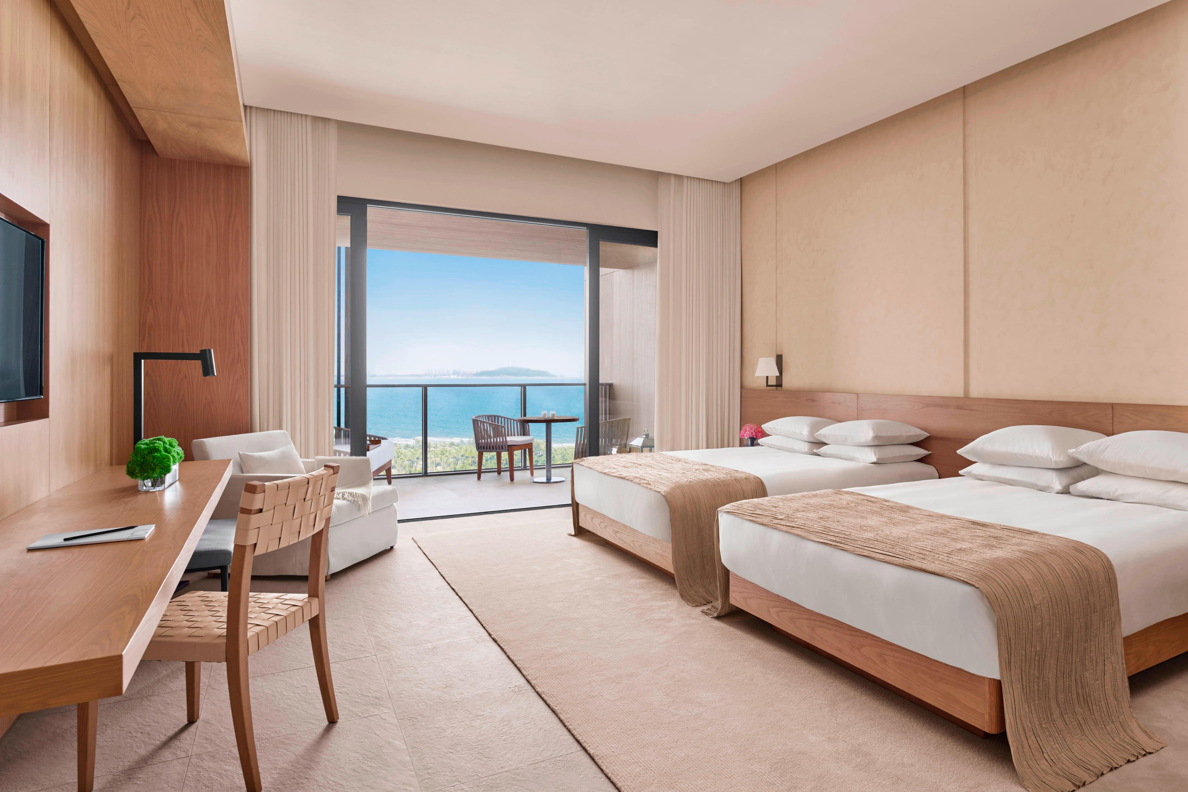 Ocean View Double-Double Bed Room