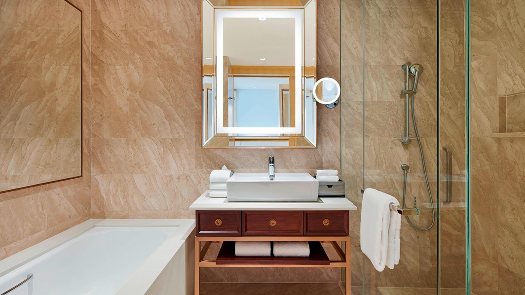 Twin Twin Deluxe Guest Bathroom