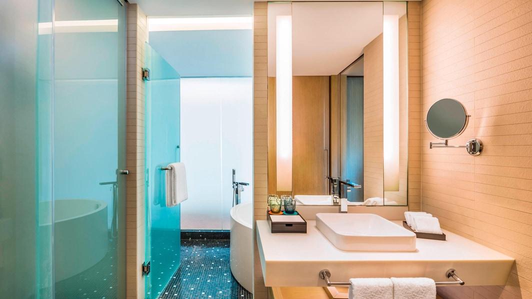 Salle de bain d'une chambre Deluxe