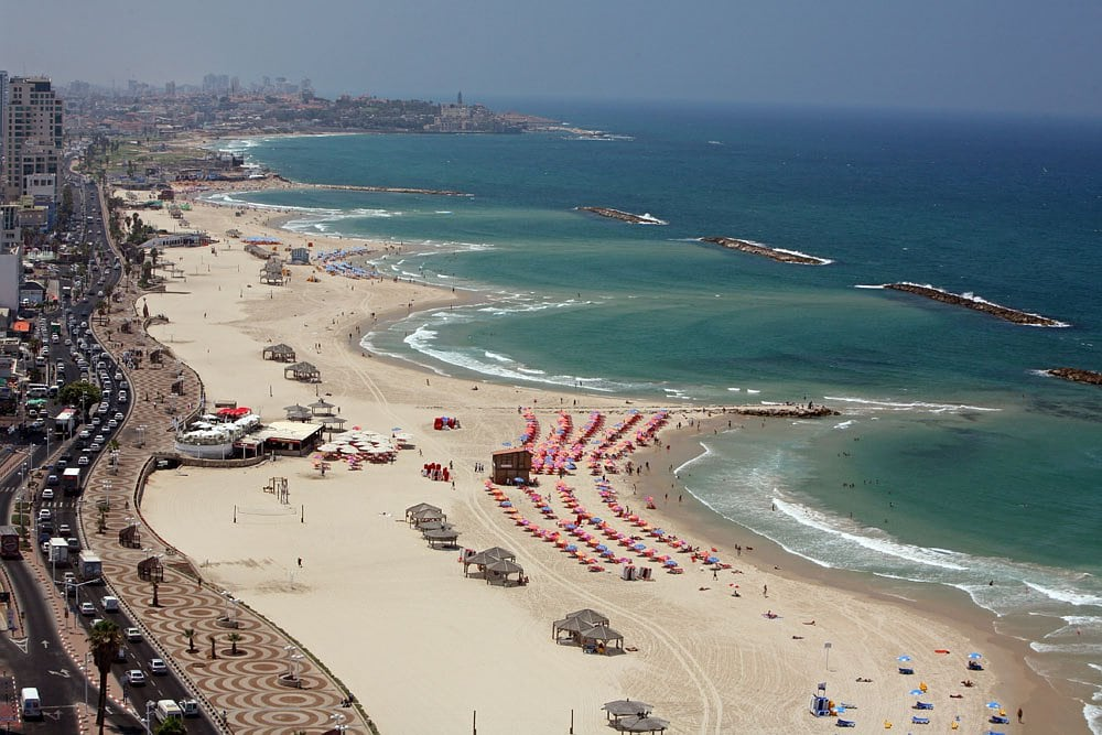 Tel Aviv beach promenade view from Renaissance