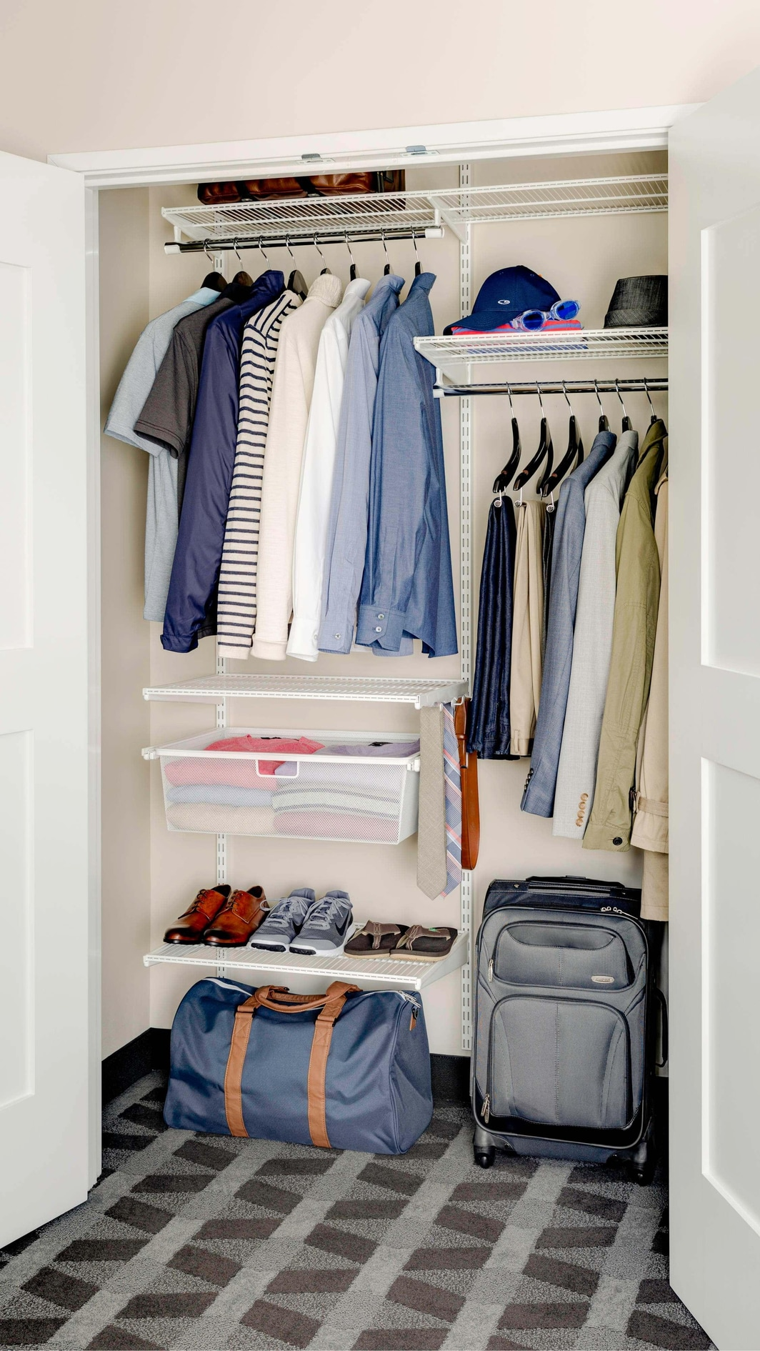 elfa® closet from The Container Store®