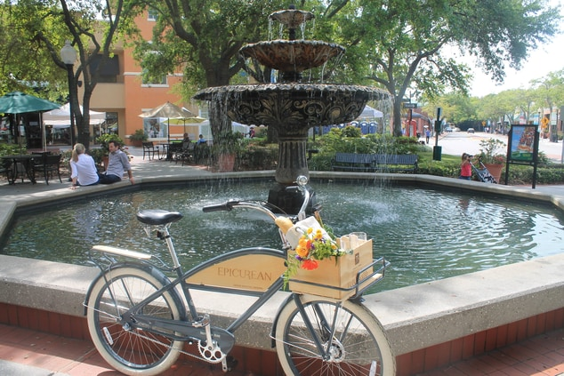 Epicurean Biking - Hyde Park Village Fountain