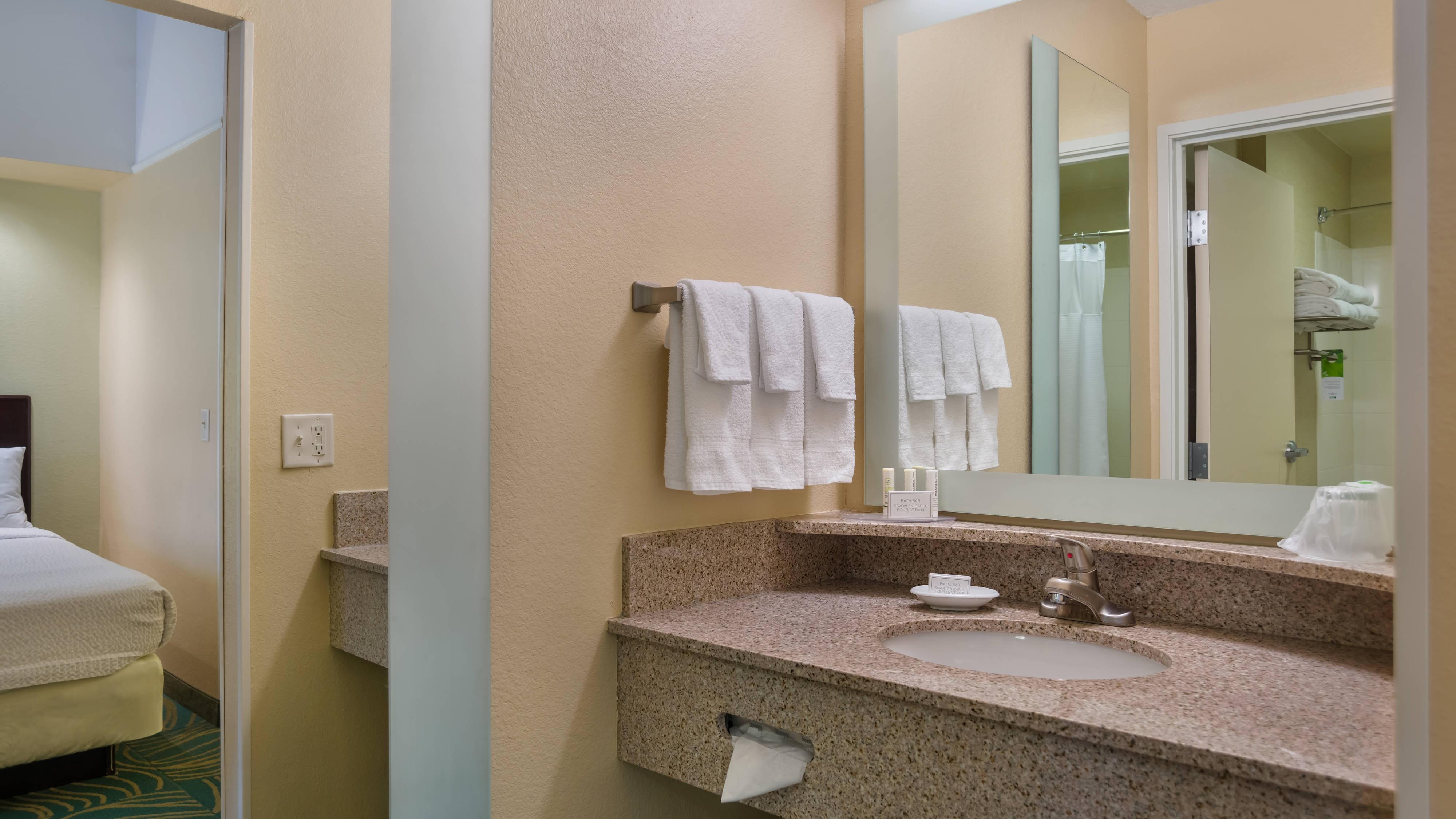 SpringHill Suites St. Petersburg Clearwater Bathroom
