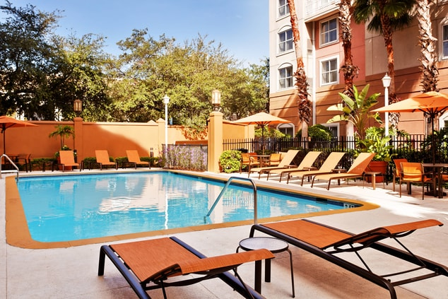 Hotel Pool in Tampa Florida