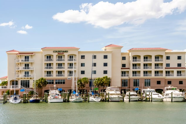 Exterior Marina View of Madeira Beach Courtyard