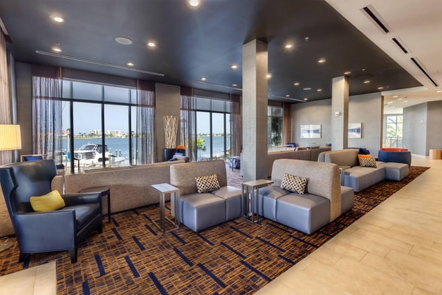Madeira Beach Courtyard Lobby Seating with View