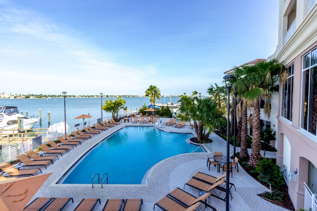 Waterfront Outdoor Pool at Madeira Beach Hotel