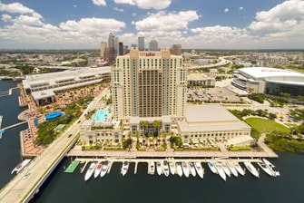 Hotel Exterior in Downtown Tampa