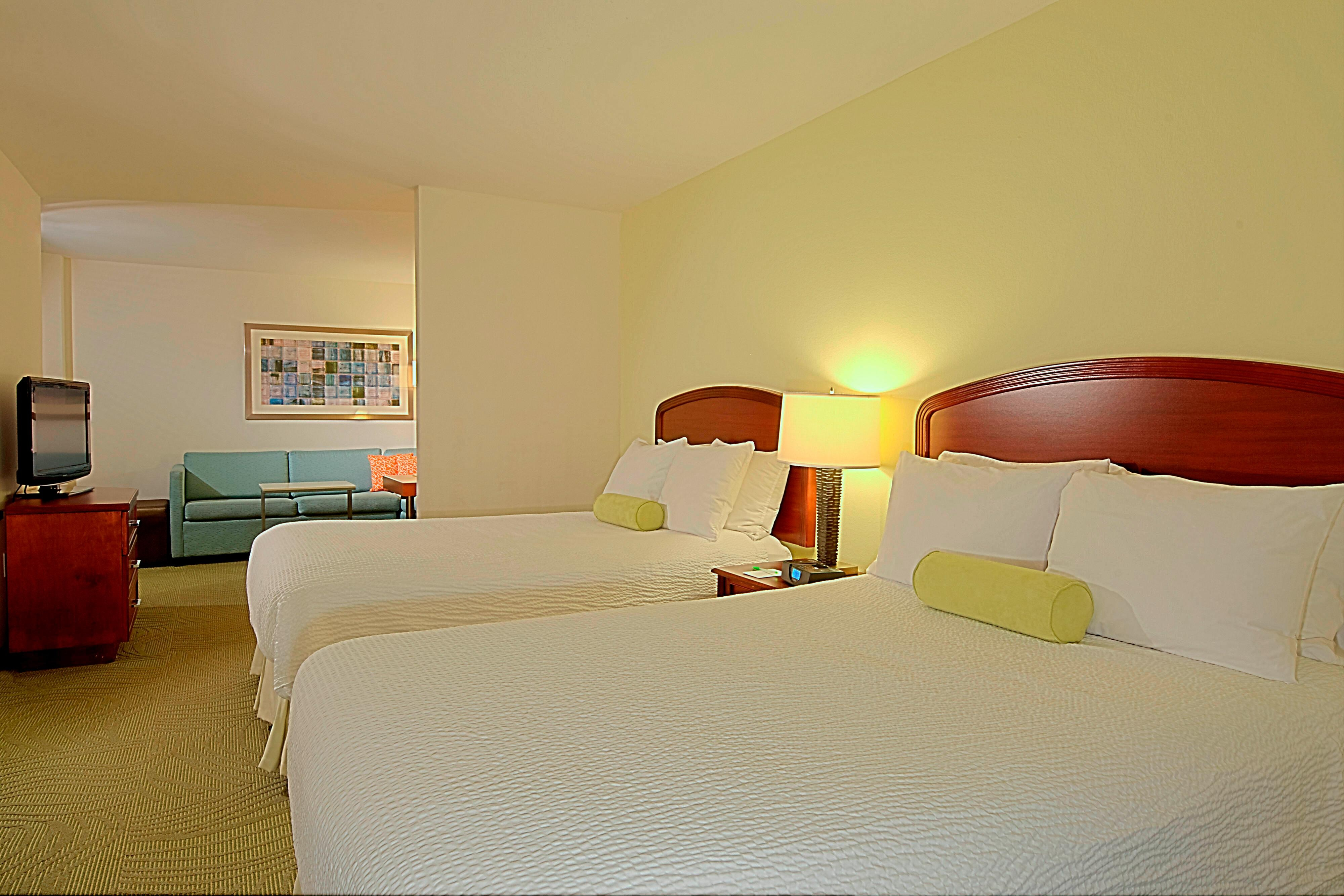 Tampa Florida Suite Sleeping Area
