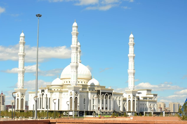 Khazret Sultan Mosque in Astana