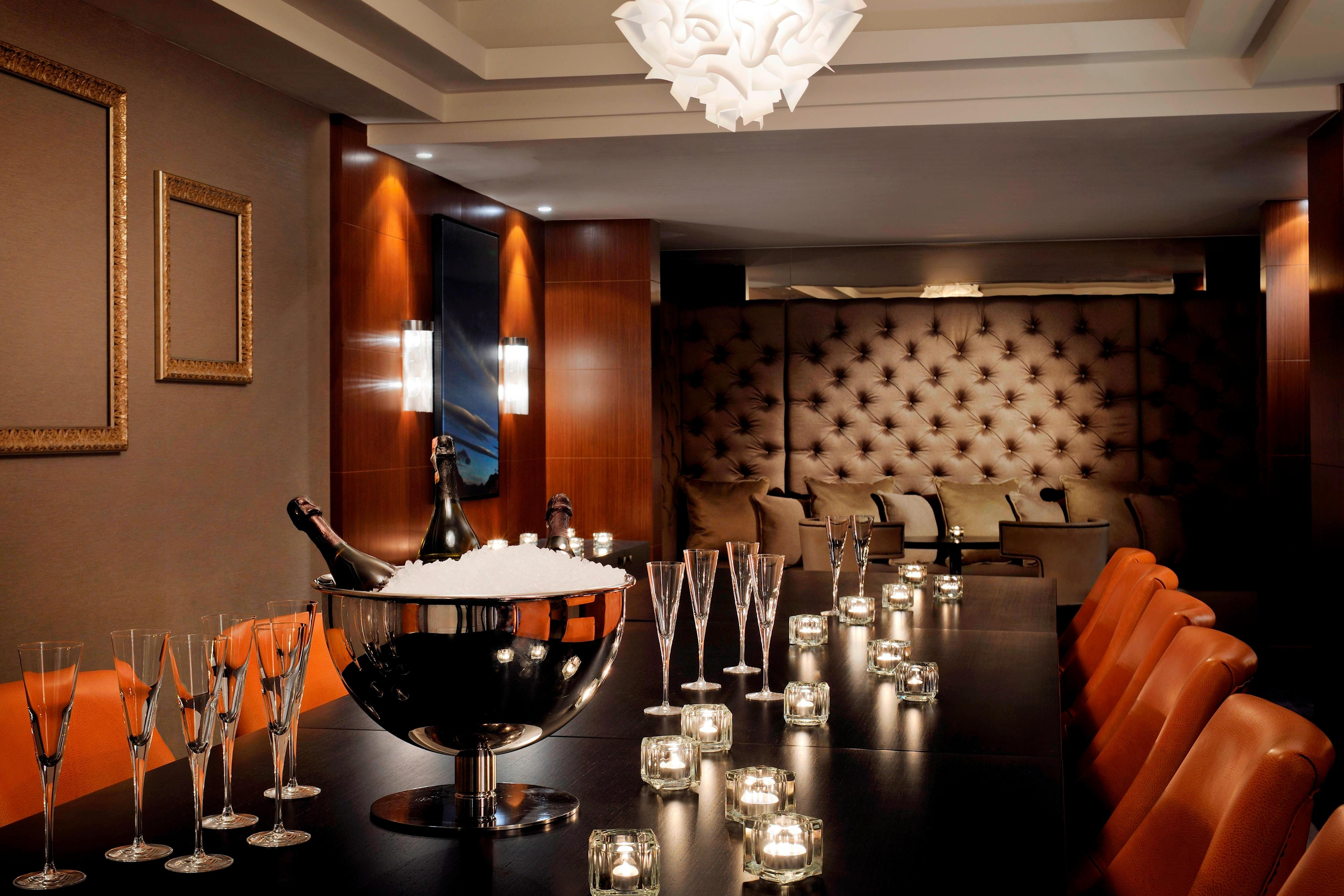 Private dining room for meeting