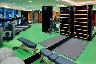 Фитнес-центр в отеле Астана Марриотт