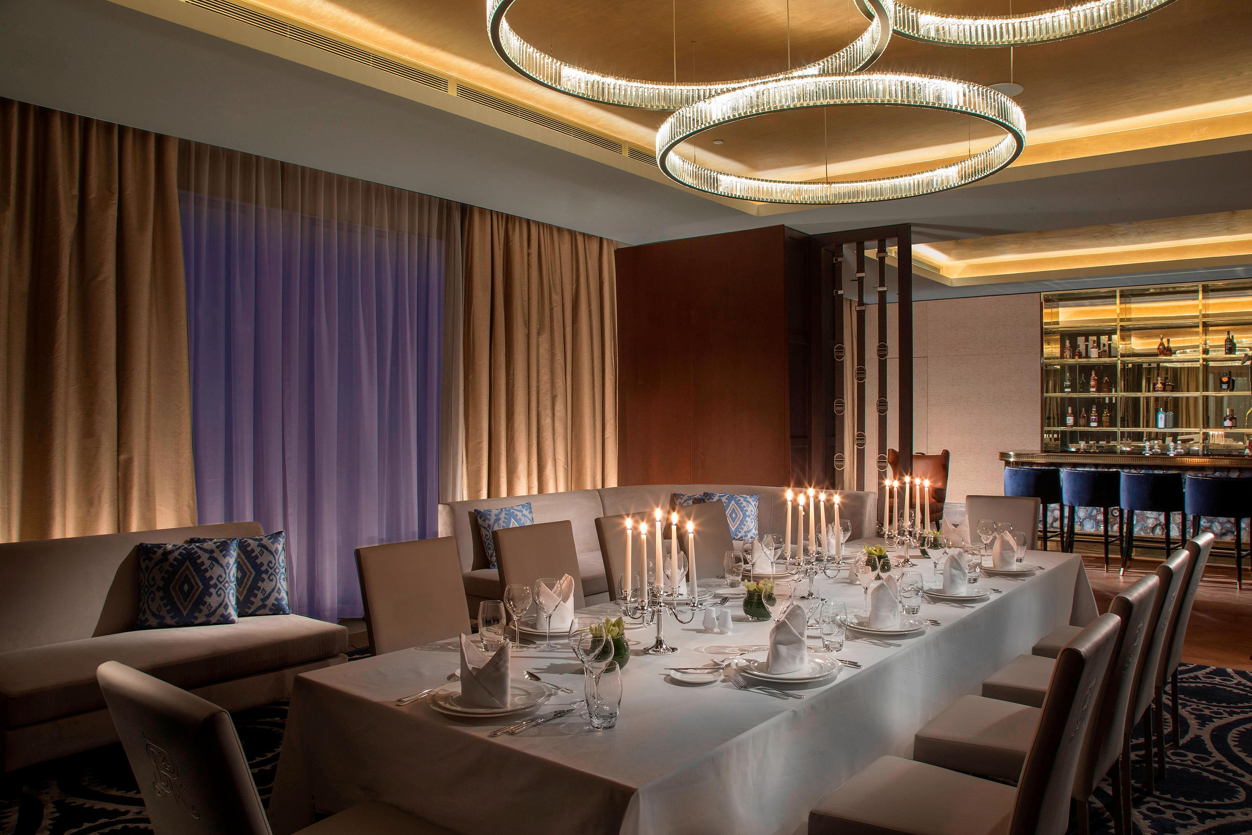 Barys VIP lounge – Private Dining Set-up