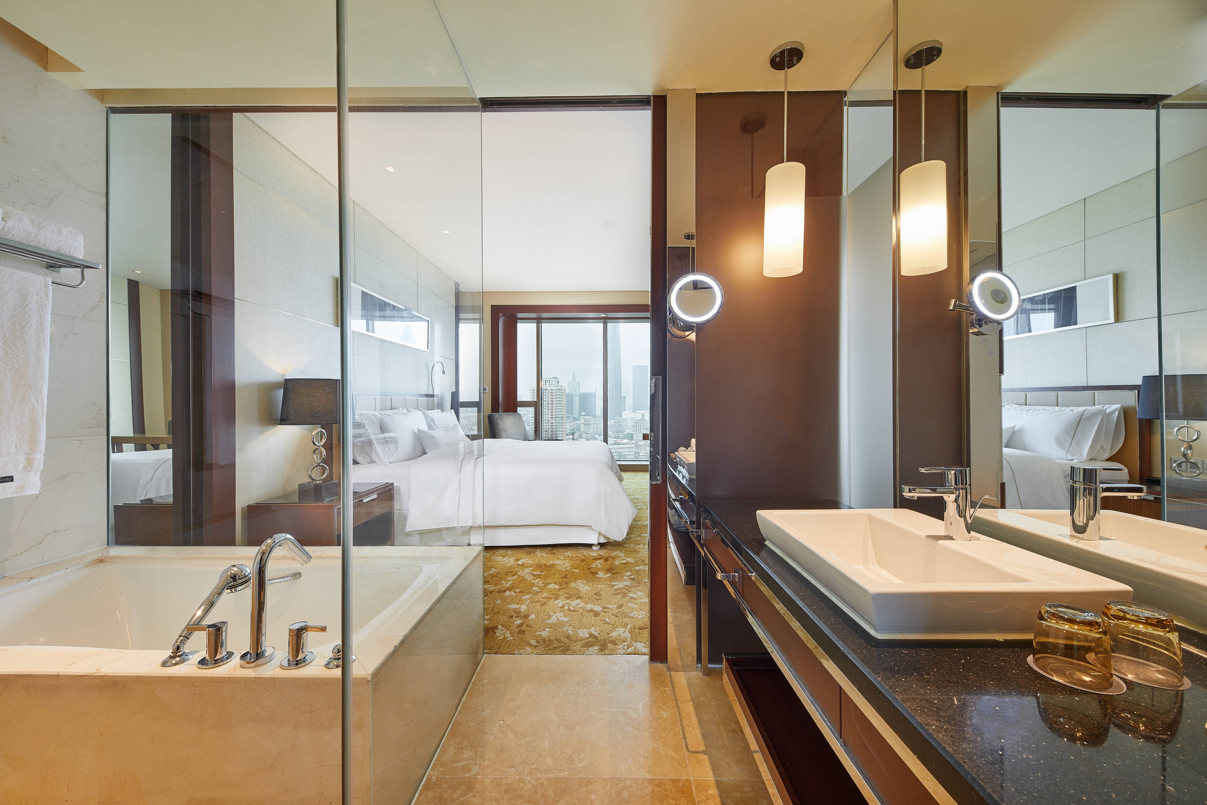 Westin Zimmer mit Kingsize-Bett - Gästebadezimmer