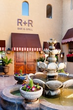 Restaurant arrival courtyard