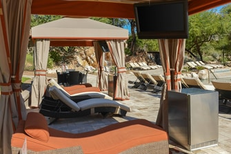 Cabana with Chaise Lounges
