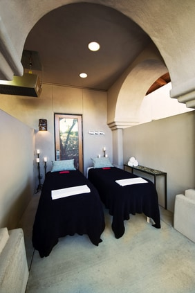 The Red Door Spa Couples Massage Station