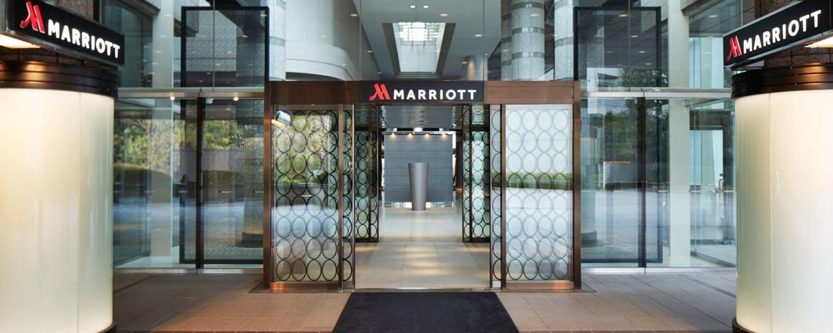東京マリオット・ホテルの入口