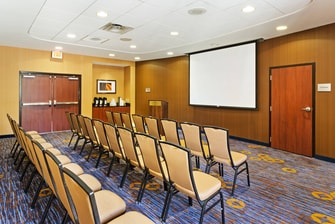 Chairs setup in theater style Meeting Room
