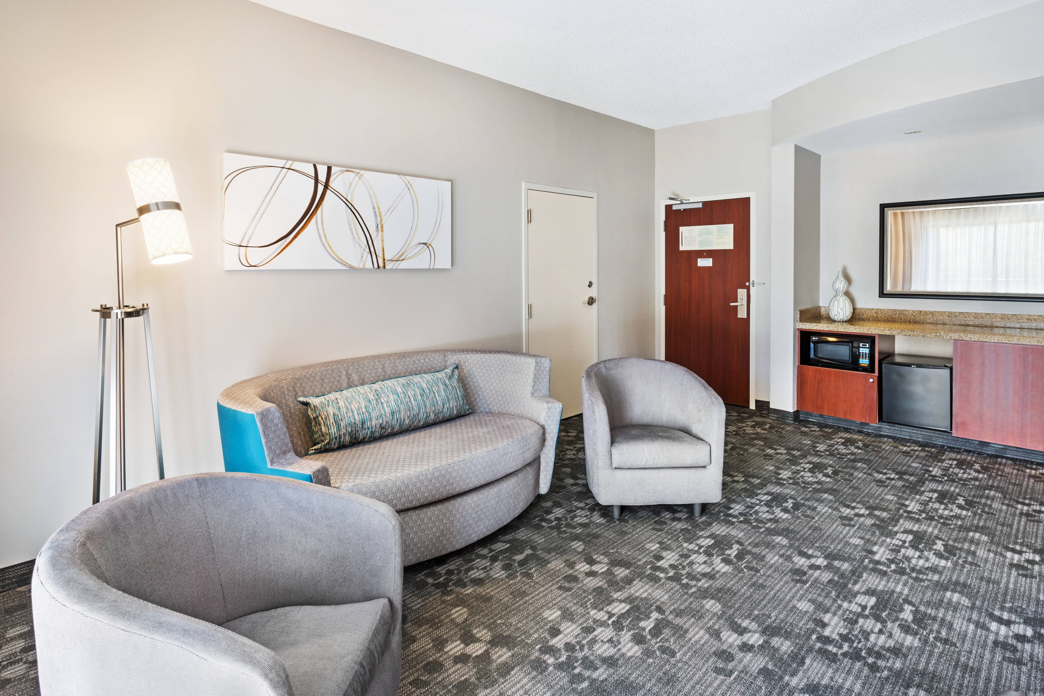 Suite Living Area Sofa and Chairs