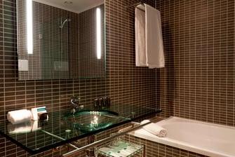 Bagno della camera Standard dell'Hotel AC Brescia