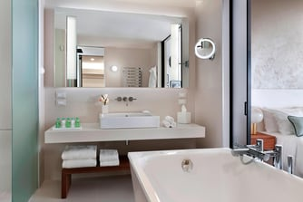 Bathtub and Vanity in Junior Suite