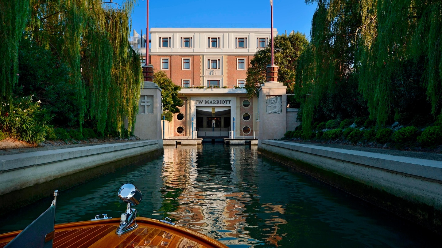 Resort Entrance in Venice Italy
