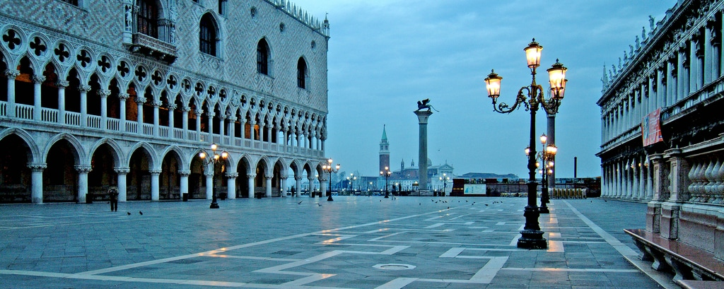Palazzo Ducale and the entrance to the Venice Port
