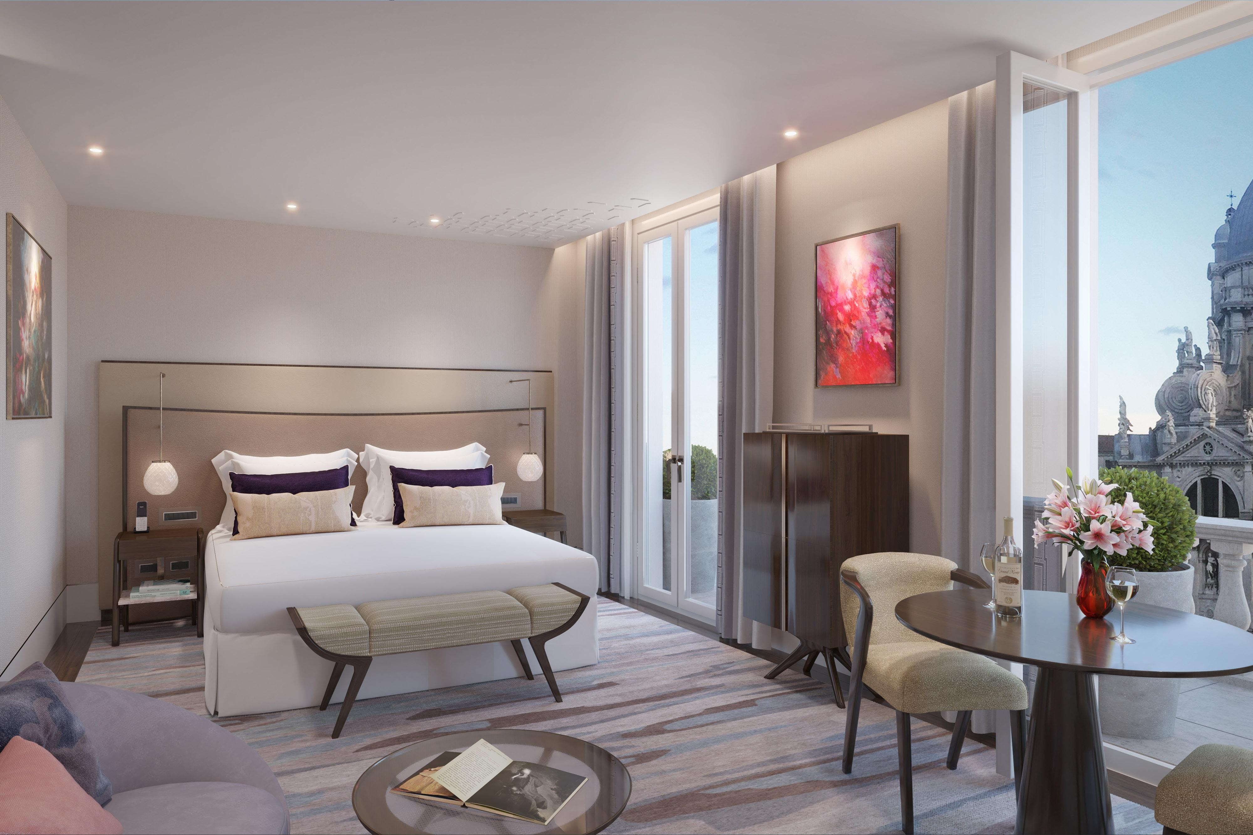 King Terrace Canal View Guest Room - Rendering