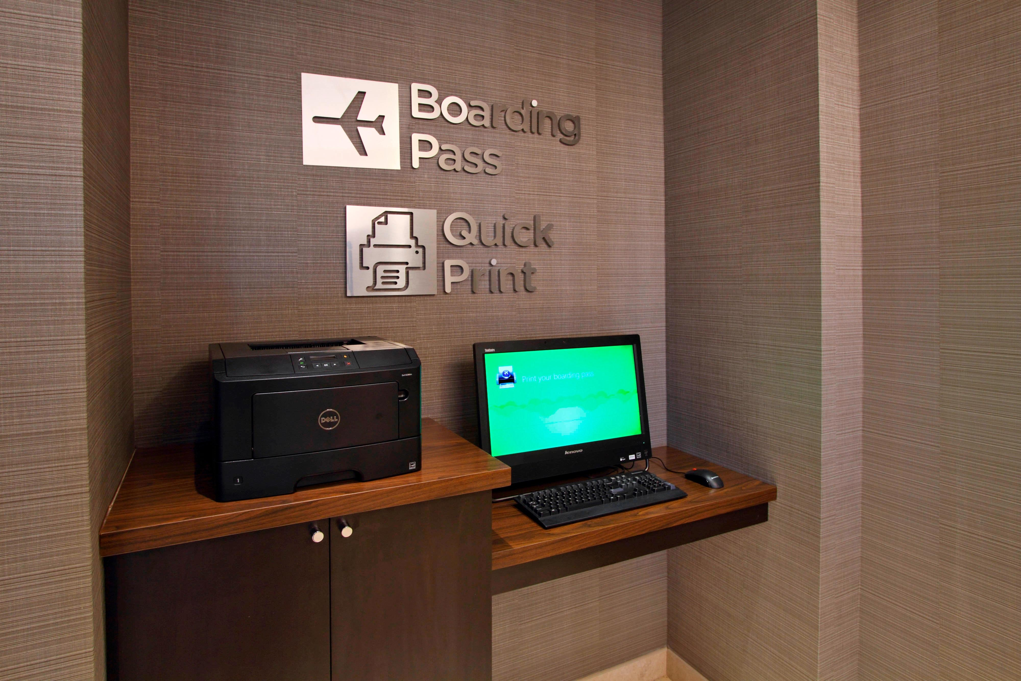 Boarding Pass & Quick Print Station