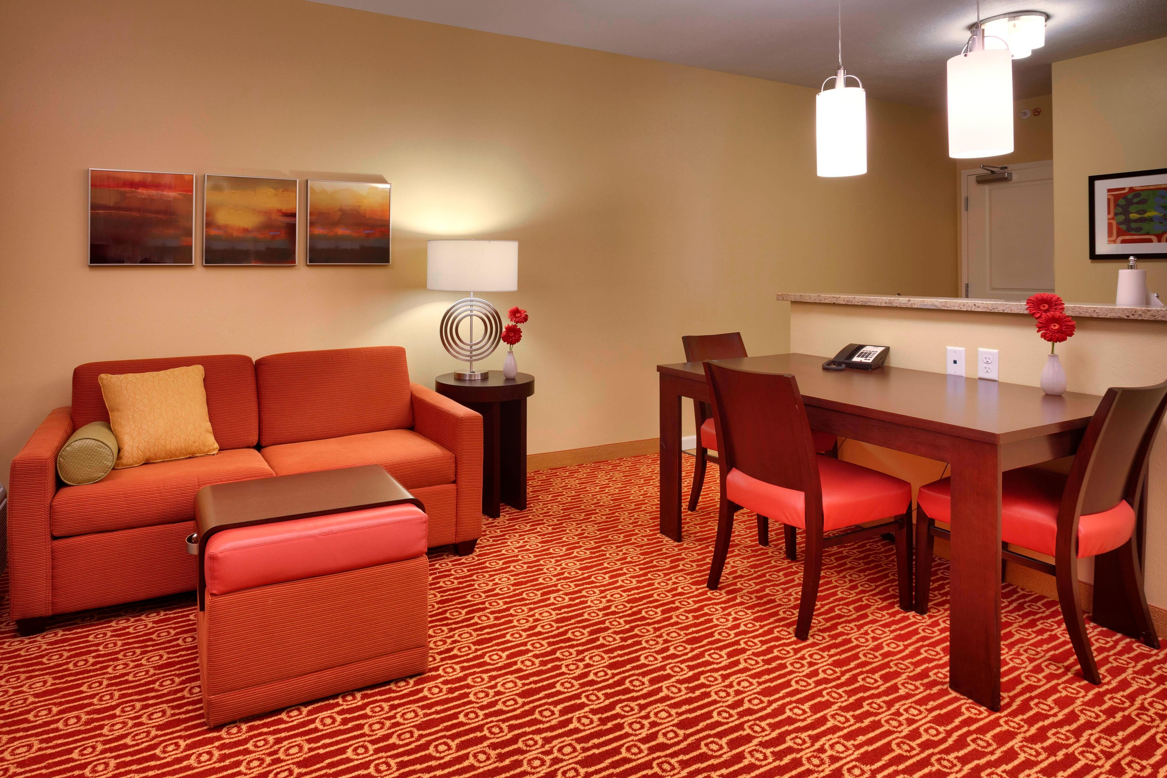 One & Two Bedroom Suite Living Area