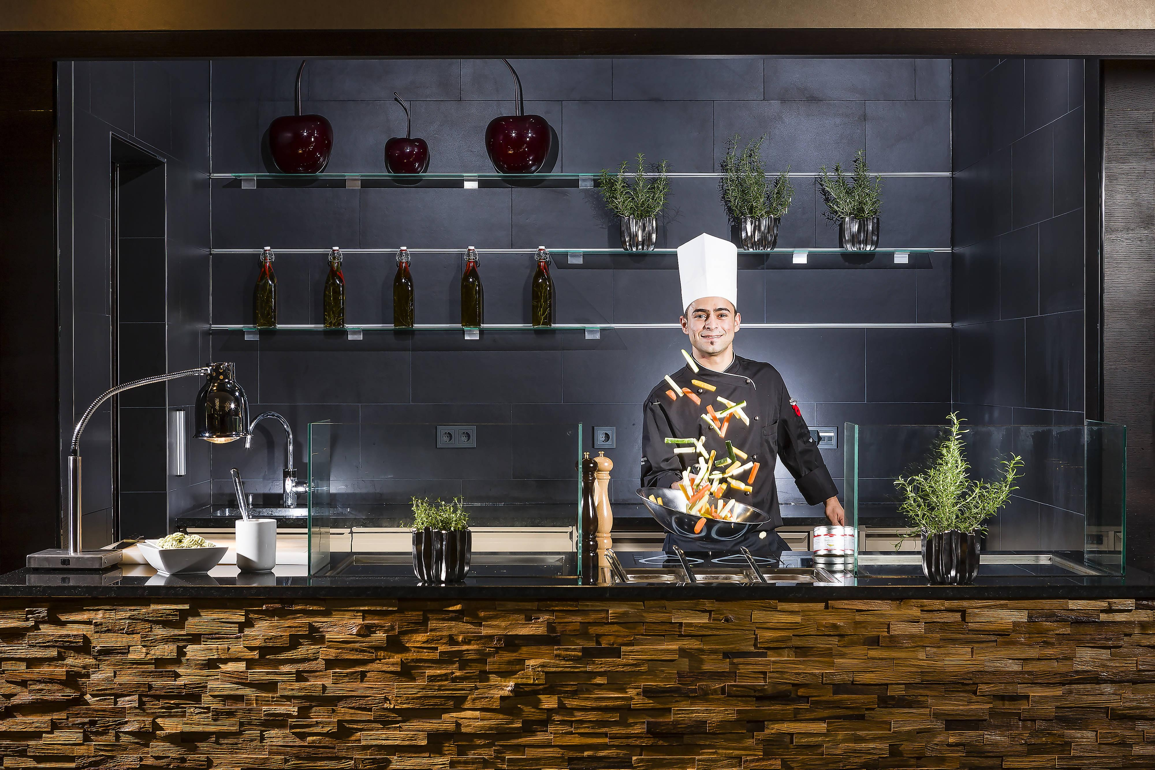 Vienna restaurant with show cooking