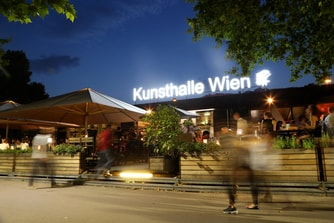 Kunsthalle Wien Karlsplatz by night