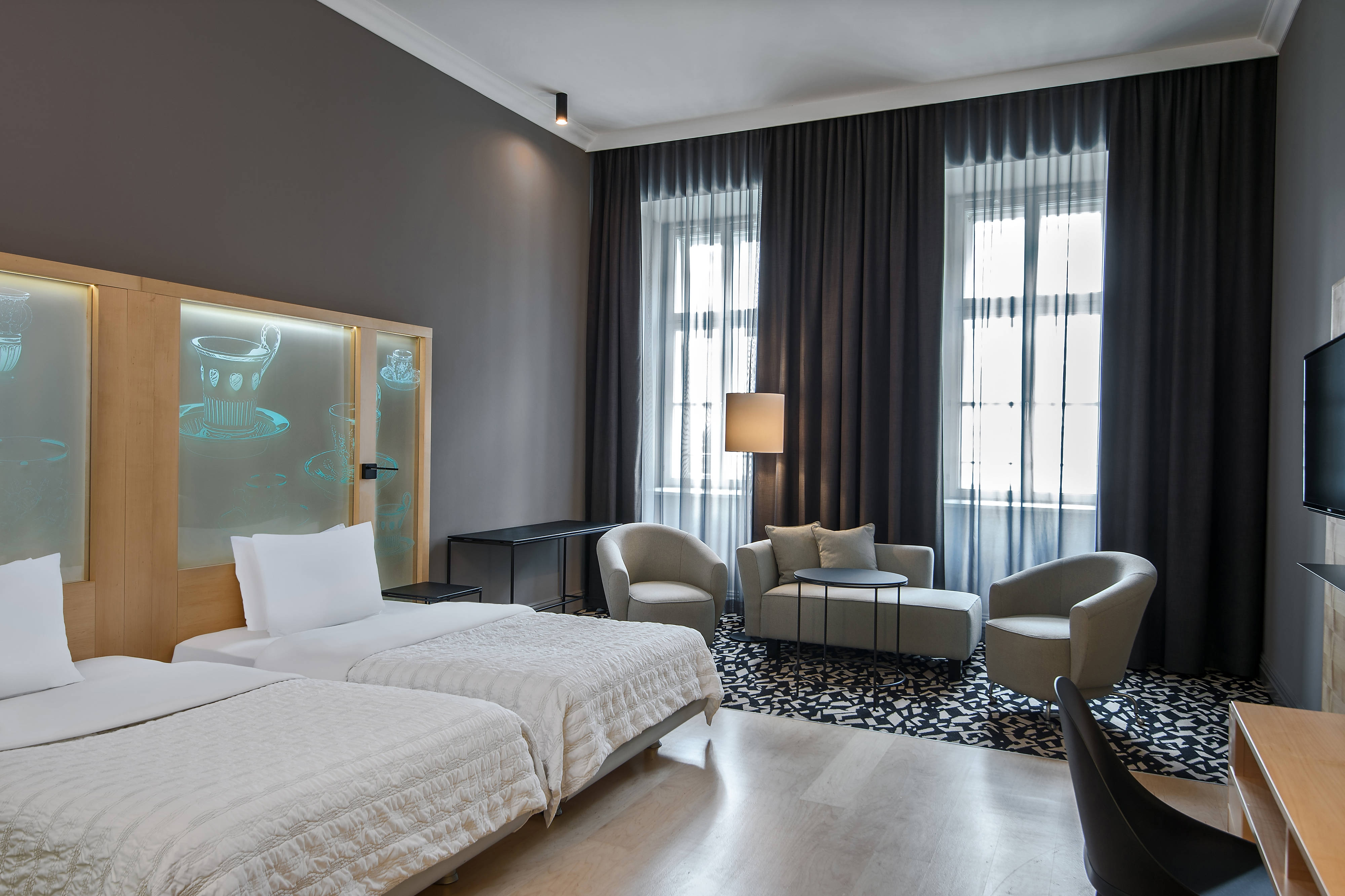 Chambre Executive avec lits jumeaux et vue sur la ville