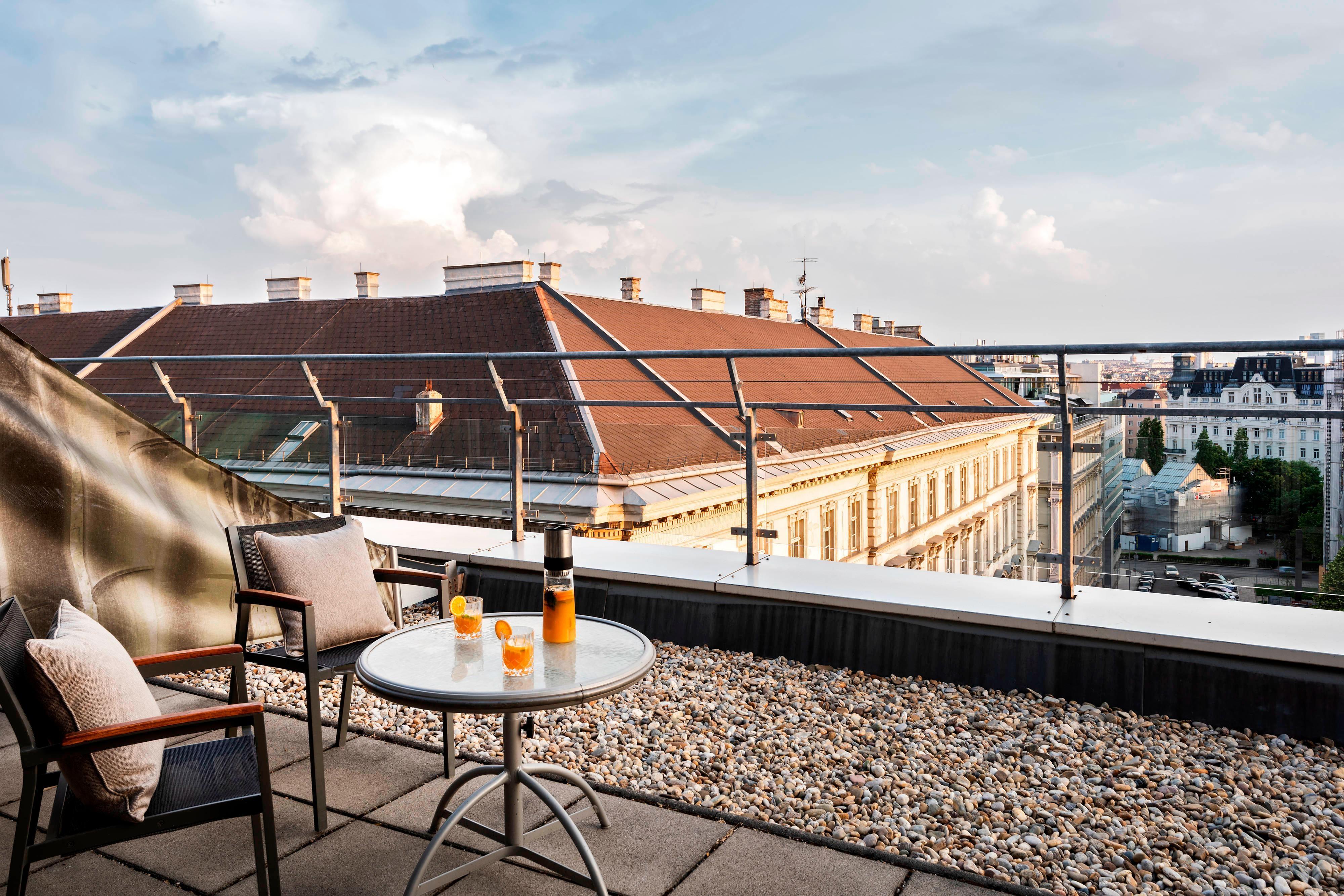 Chambre avec terrasse sur le toit