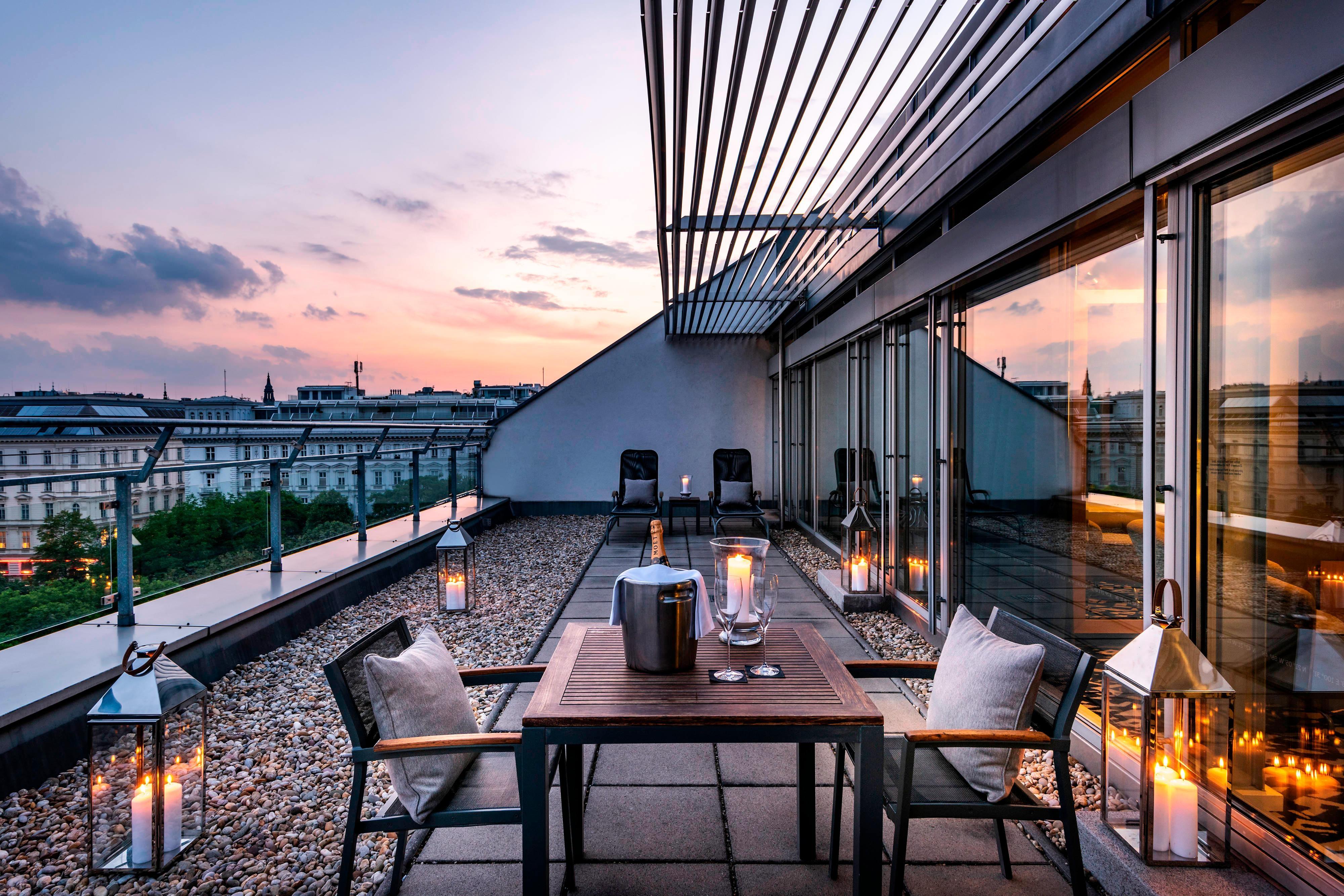 Suite sur le toit avec terrasse