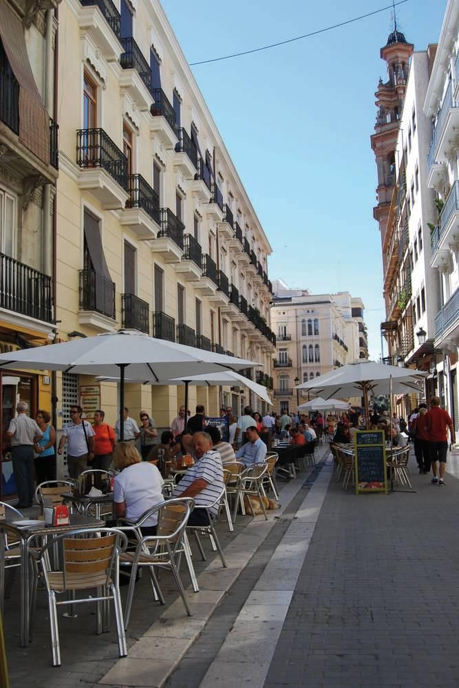 Summer terraza in Valencia city