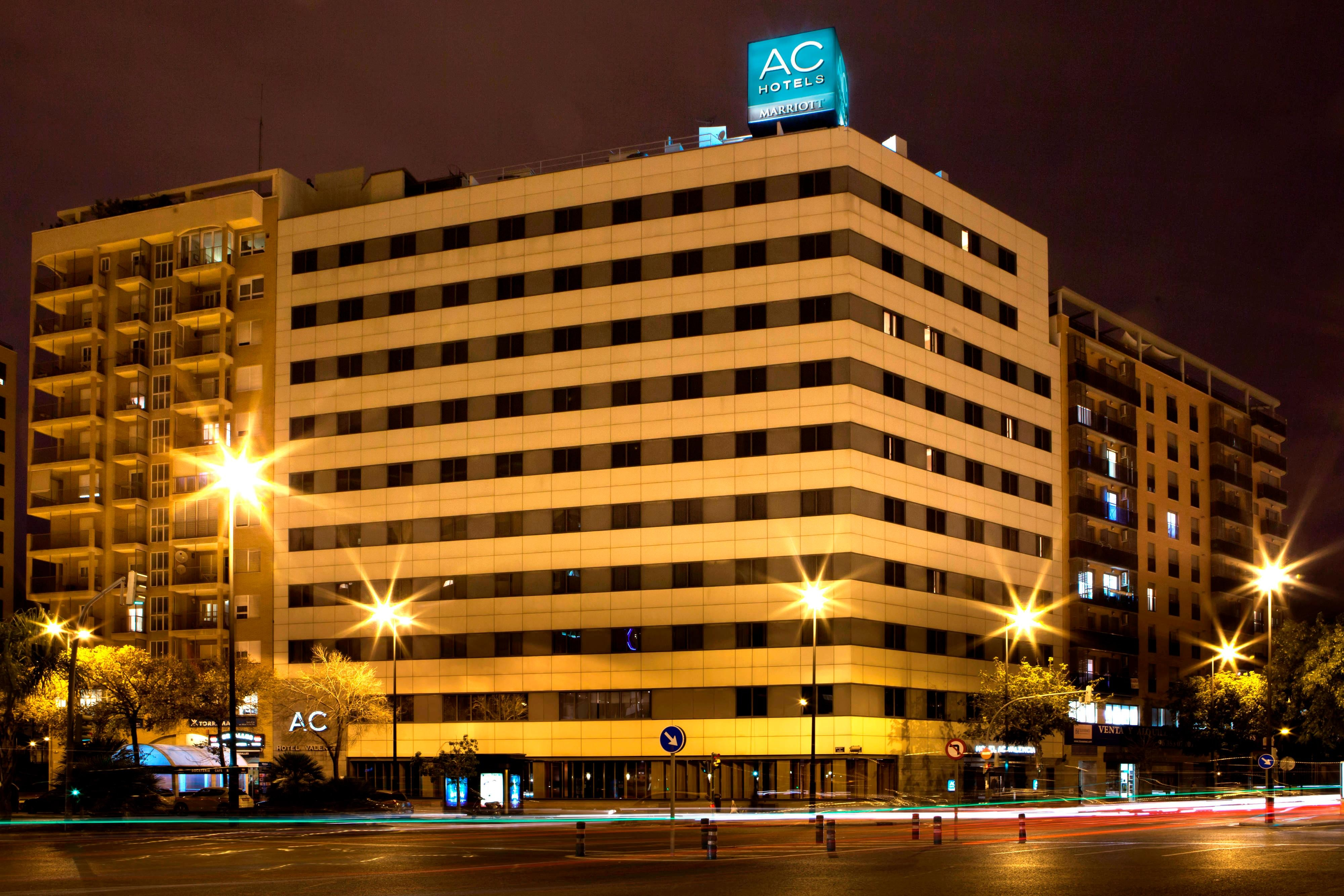 Hotel exterior in Valencia city