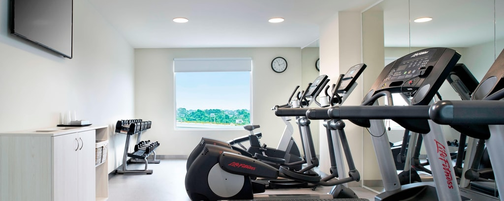 Fitnessstudio des Hotels in Villahermosa
