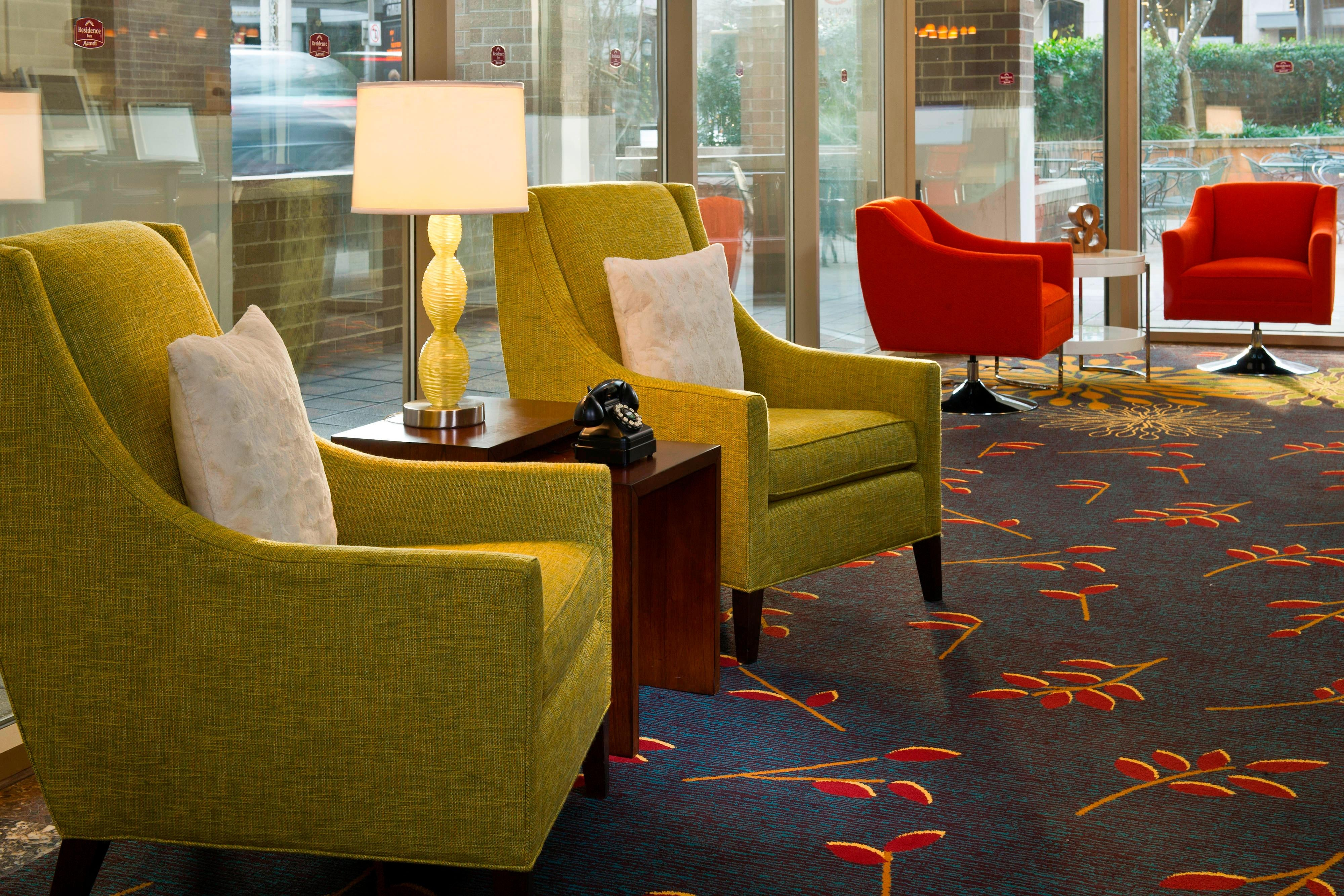 Residence Inn Bethesda Downtown Lobby Seating Area