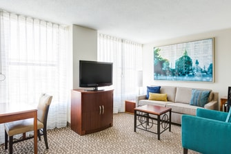 Two Queen One Bedroom Suite Living Area