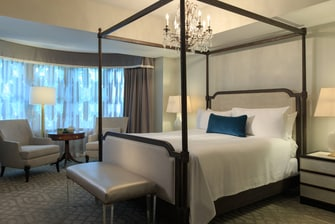 Dormitorio de la suite Wardman Tower Presidential