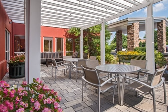 Fairfield Hotel Frederick Front Patio