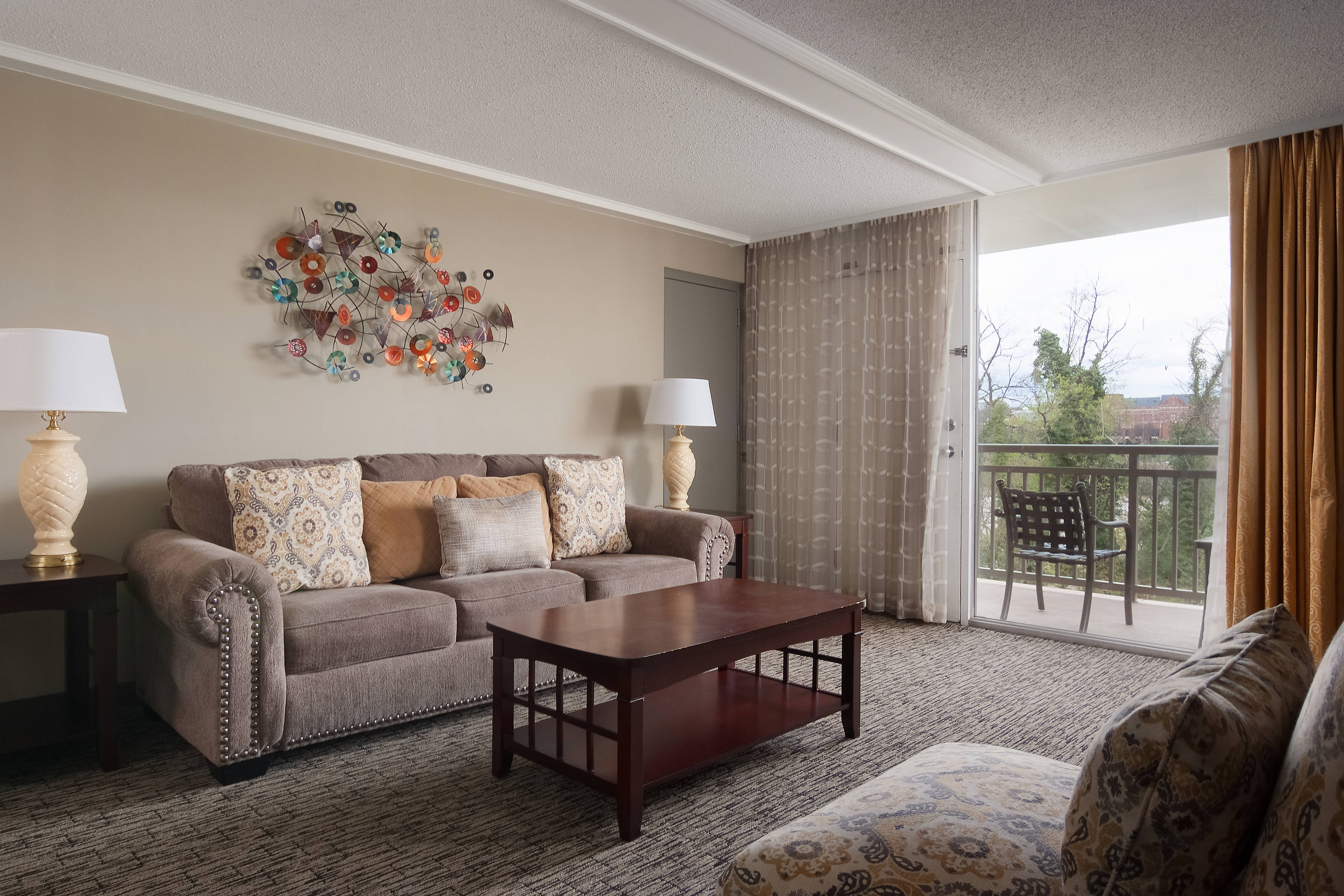 One Bedroom King/King Suite - Living Area