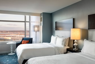 Arlington double city view room